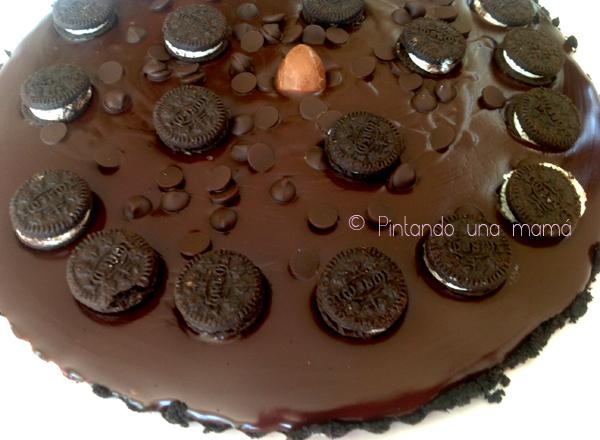Tarta_Oreo_chocolate_sin_horno_PintandoUnaMama_Ok