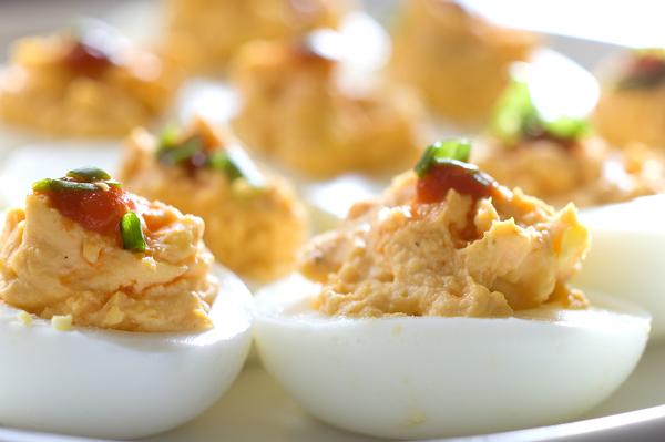 huevos con atun: