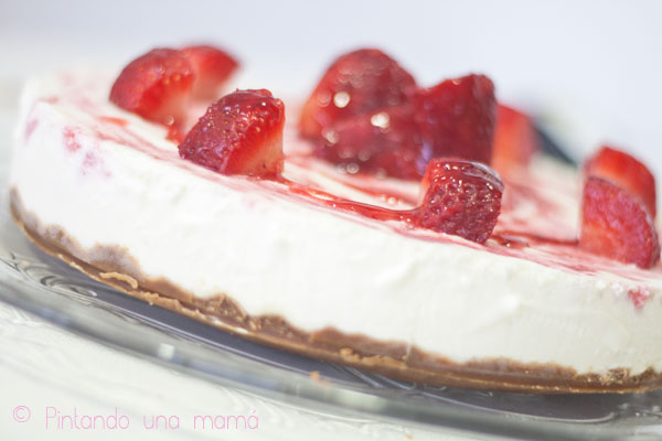 tarta-queso-con-fresas2_PintandoUnaMama