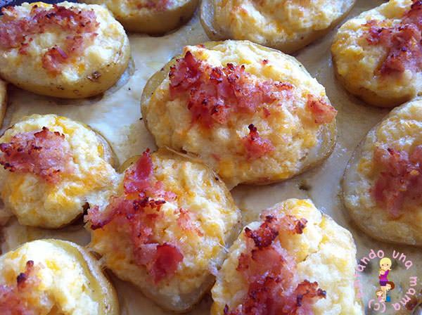 Nueva receta de patatas rellenas al horno pintando una - Patatas pequenas al horno ...