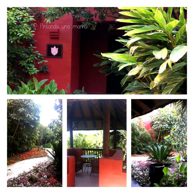 Asia_Gardens_Barcelo_Entrada_a_la_villa_Terraza_PintandoUnaMama
