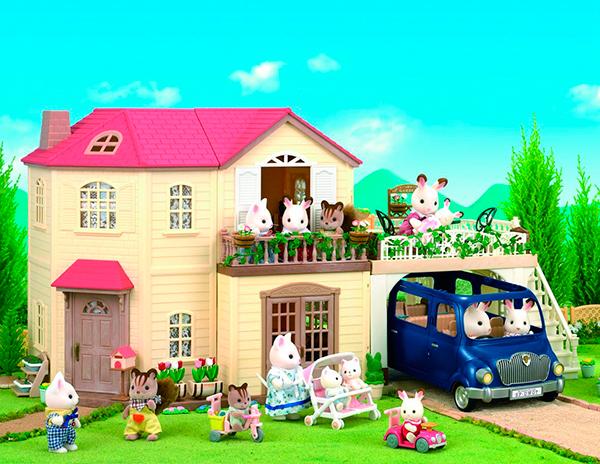 Casa_Rosa_Sylvanian_Families_PintandoUnaMama