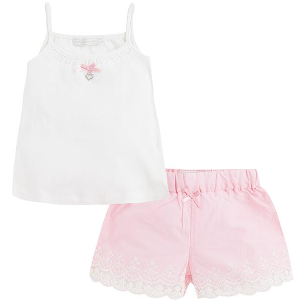 Pijama_Rosa_y_Blanco_Short_Mayoral_PintandoUnaMama