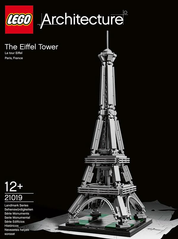 torre eiffel de lego 21019 pintando una mam pintando