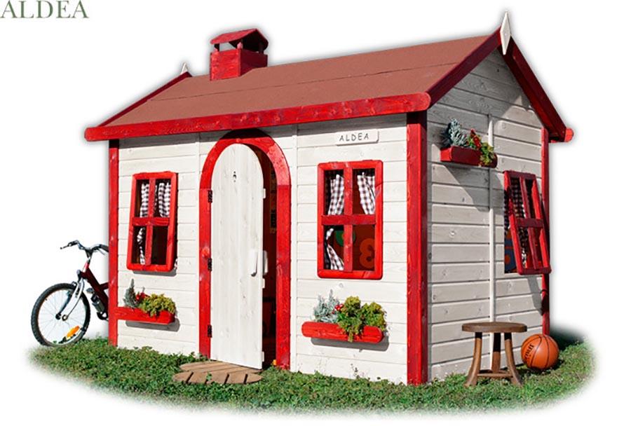 Casitas de madera para ni os green house pintando una for Casitas de jardin para ninos