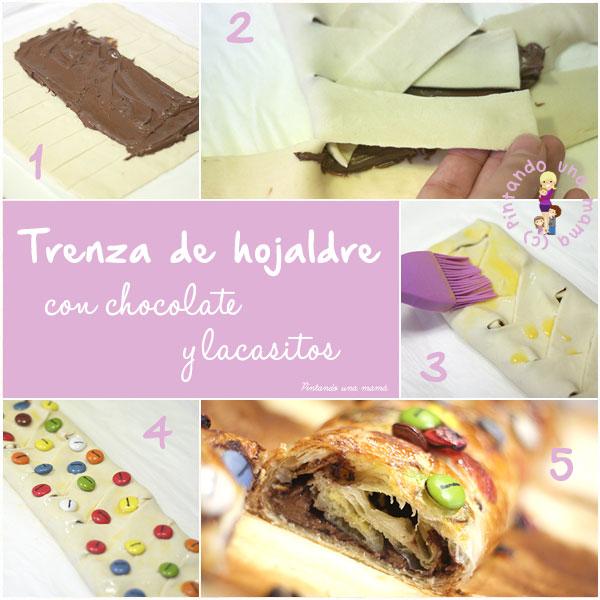 trenza-hojaldre-chocolate-lacasitos_PintandoUnaMama
