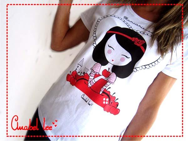 Camiseta_Blancanieves_Anabel_Lee_PintandoUnaMama