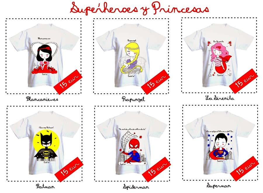 Camisetas_superheroes_princesas_cortablanca_PintandoUnaMama