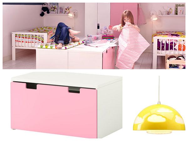 7 habitaciones ideales para ni os de ikea pintando una - Baul para guardar juguetes ninos ...