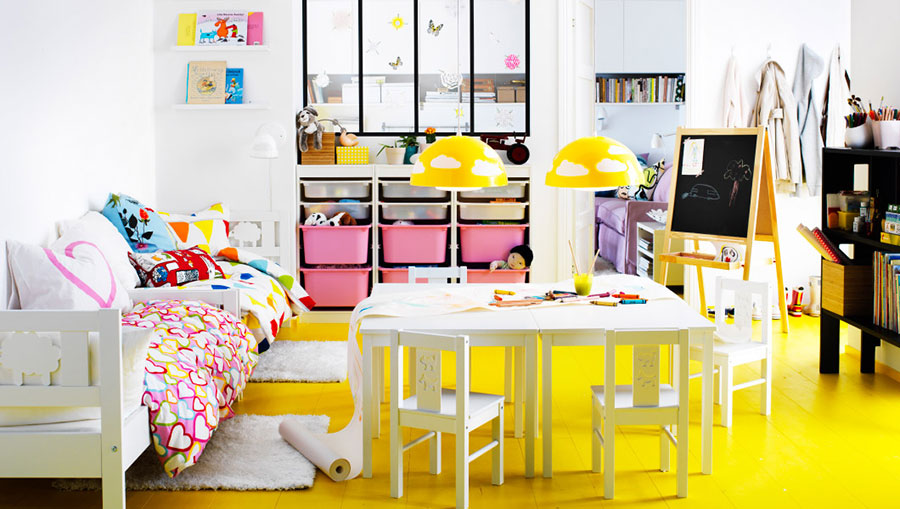 7 habitaciones ideales para ni os de ikea pintando una - Casa ninos ikea ...