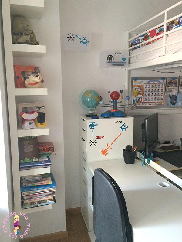 Habitaci n completa para dos ni os de ikea pintando una mam pintando una mam - Ikea estanterias ninos ...