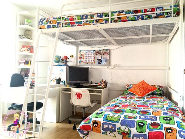 Habitaci n completa para dos ni os de ikea pintando una - Ikea camas de ninos ...