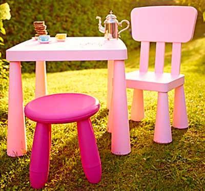 Oda al taburete mammut de ikea para ni os pintando una for Ikea mesa y sillas ninos
