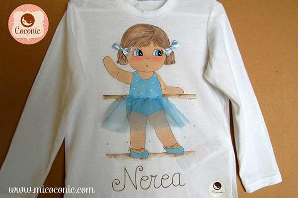 Camiseta_personalizada_ni_a_bailarina_Nerea