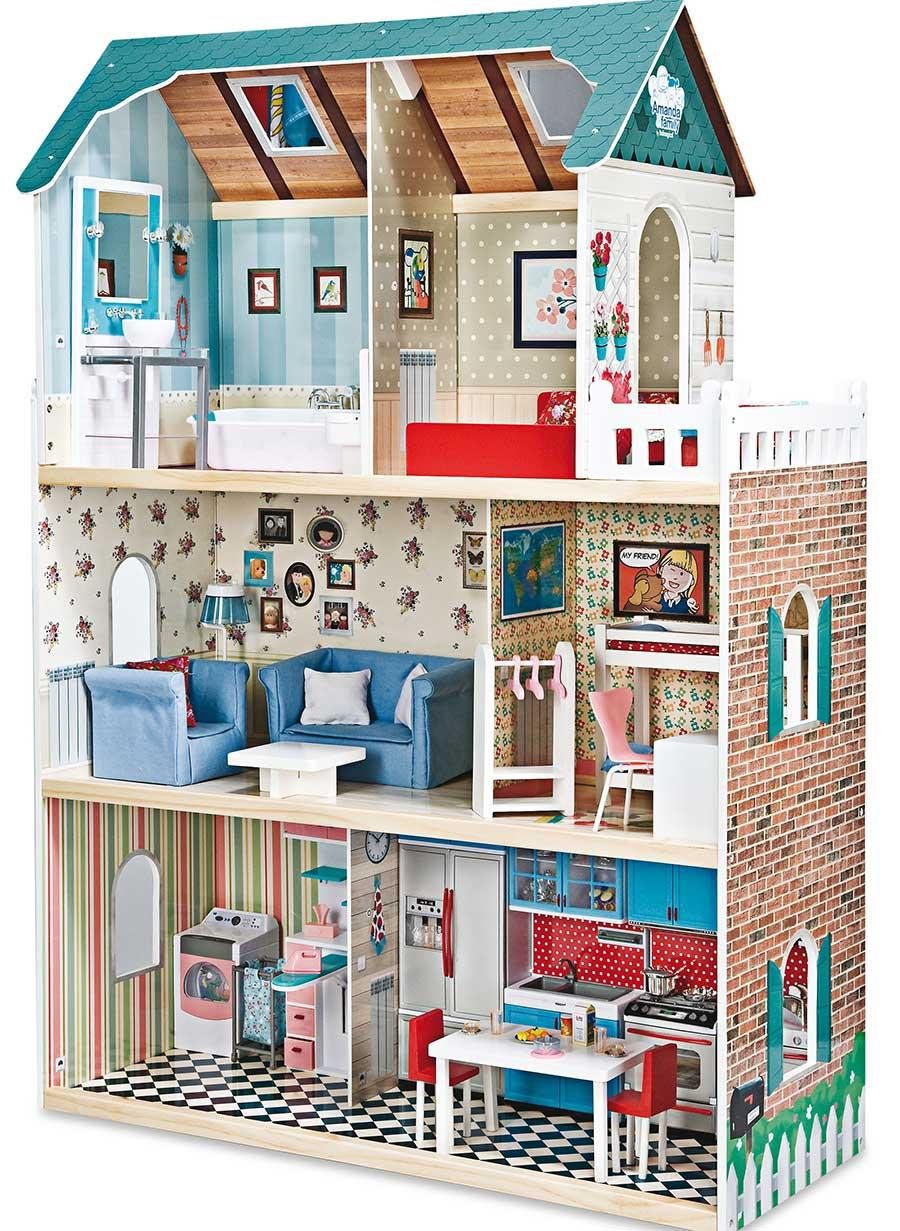 Casa de mu ecas de madera de imaginarium pintando una mam pintando una mam - Casa amanda imaginarium ...