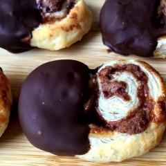 Receta de Palmeritas de Chocolate Doble