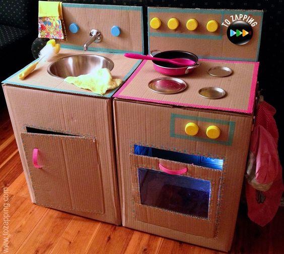 Cocinas con Cajas de Cartón