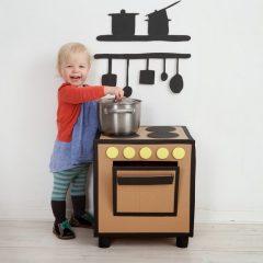 Cocinas con Cajas de Cartón para Niños