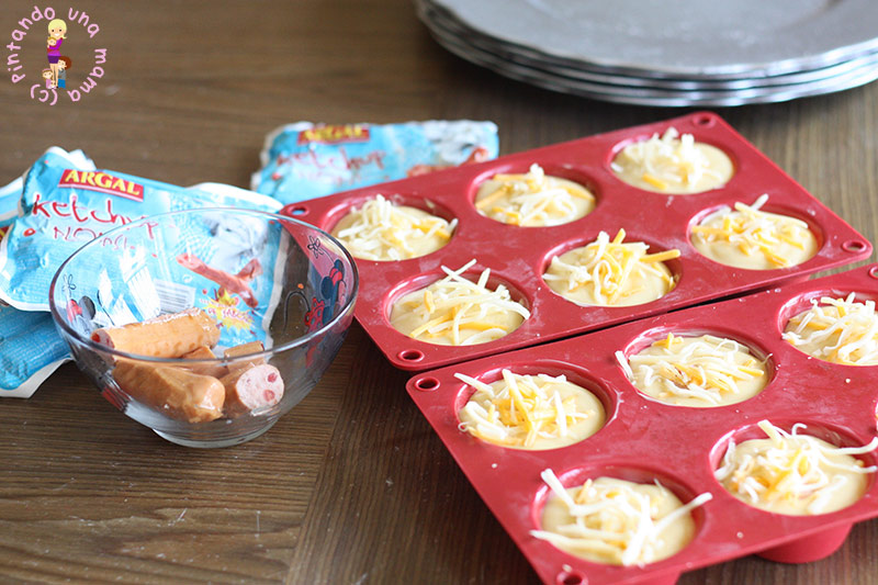 muffins-salchichas-ketchup