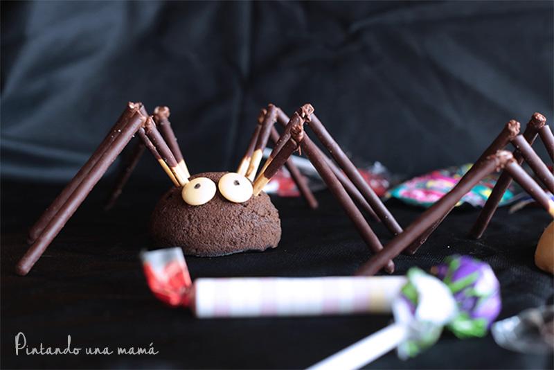 receta Arañas de Halloween