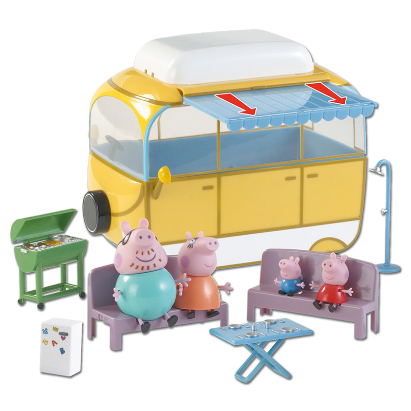 Peppa Pig autocaravana-amarilla