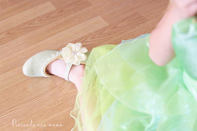 Zapatos disfraz Tiana