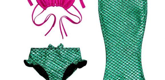 Bikinis con Colas de Sirena Para Niñas