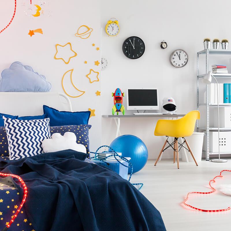 pintar habitación de los niños