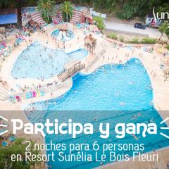 Sorteo Estancia en Camping Resort Sunêlia Le Bois Fleuri