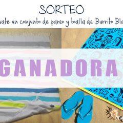 Ganador Sorteo Toalla de Burrito Blanco