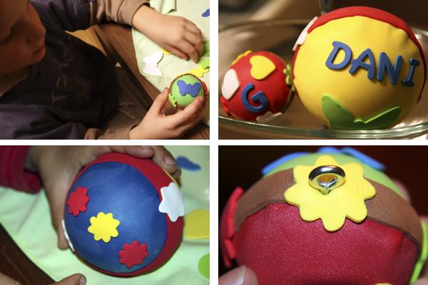 Pelotas hechas de foami imagui - Como decorar una bola de navidad ...
